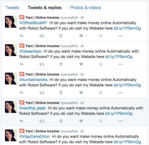 Twitter Spam robots