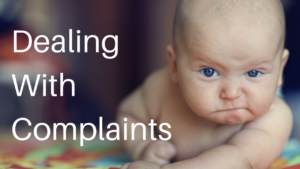 Dealing with complaints online