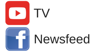 YouTube TV Facebook Newsfeed and Mastodon